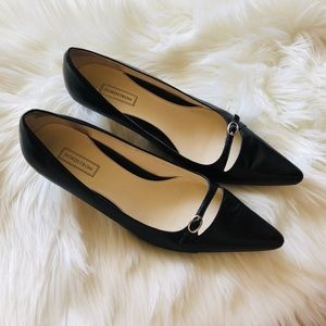 Nordstrom Black Mini Heels Size 9 Pointed Toe